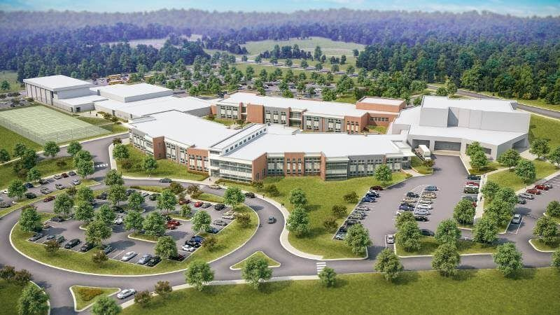 Drawing of the Proposed Renovations of Chapel Hill High School
