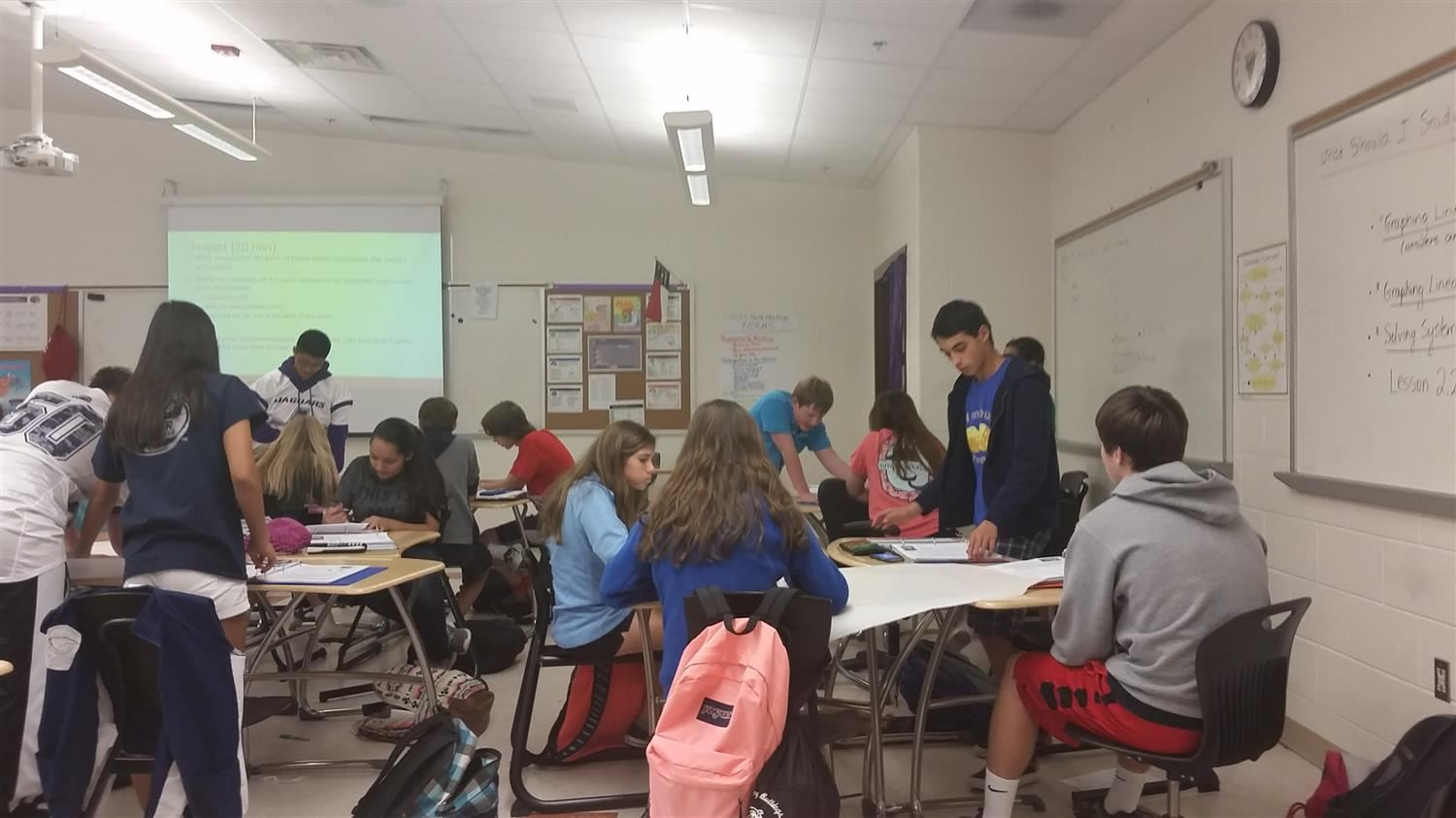 Picture of Students Working in Groups