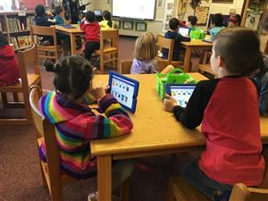 Students learning digital citizenship skills