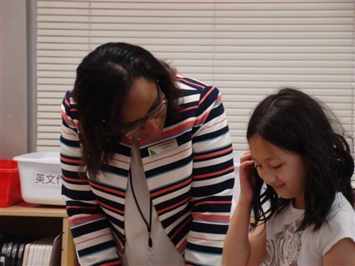 Superintendent with Mandarin Dual Language program student