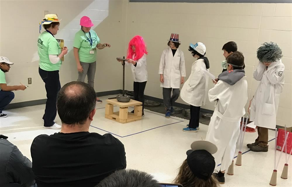 Odyssey of the Mind team performing at Regional Tournament