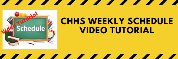 CHHS Weekly Schedule Video Tutorial