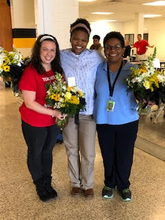Congratulations!! (From Left to Right) Teacher of the Year - Emily Duncan Exceptional Children and Student Services Employee of the Year - Sonya Sutton Classified Employee of the Year - Gina Horton