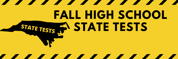 **Important** FALL HIGH SCHOOL STATE TESTS