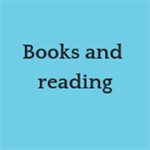 Books and reading button