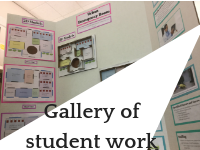 Student work gallery button