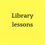 Library lessons button