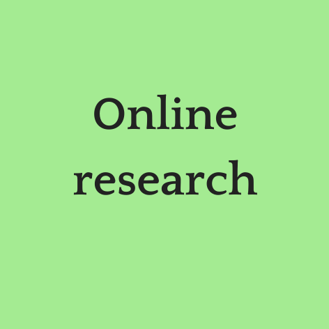 Online research button