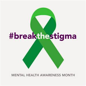 Green Mental Health Ribbon