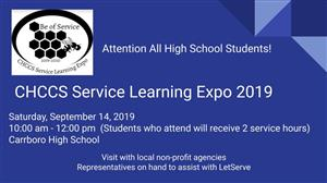Service Learning Expo Tomorrow!