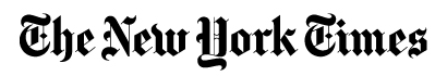 black stylized text reading The New York Times