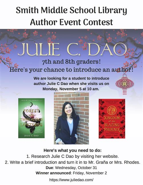 Poster for author introduction contest.