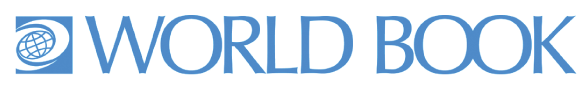 world book logo in blue text