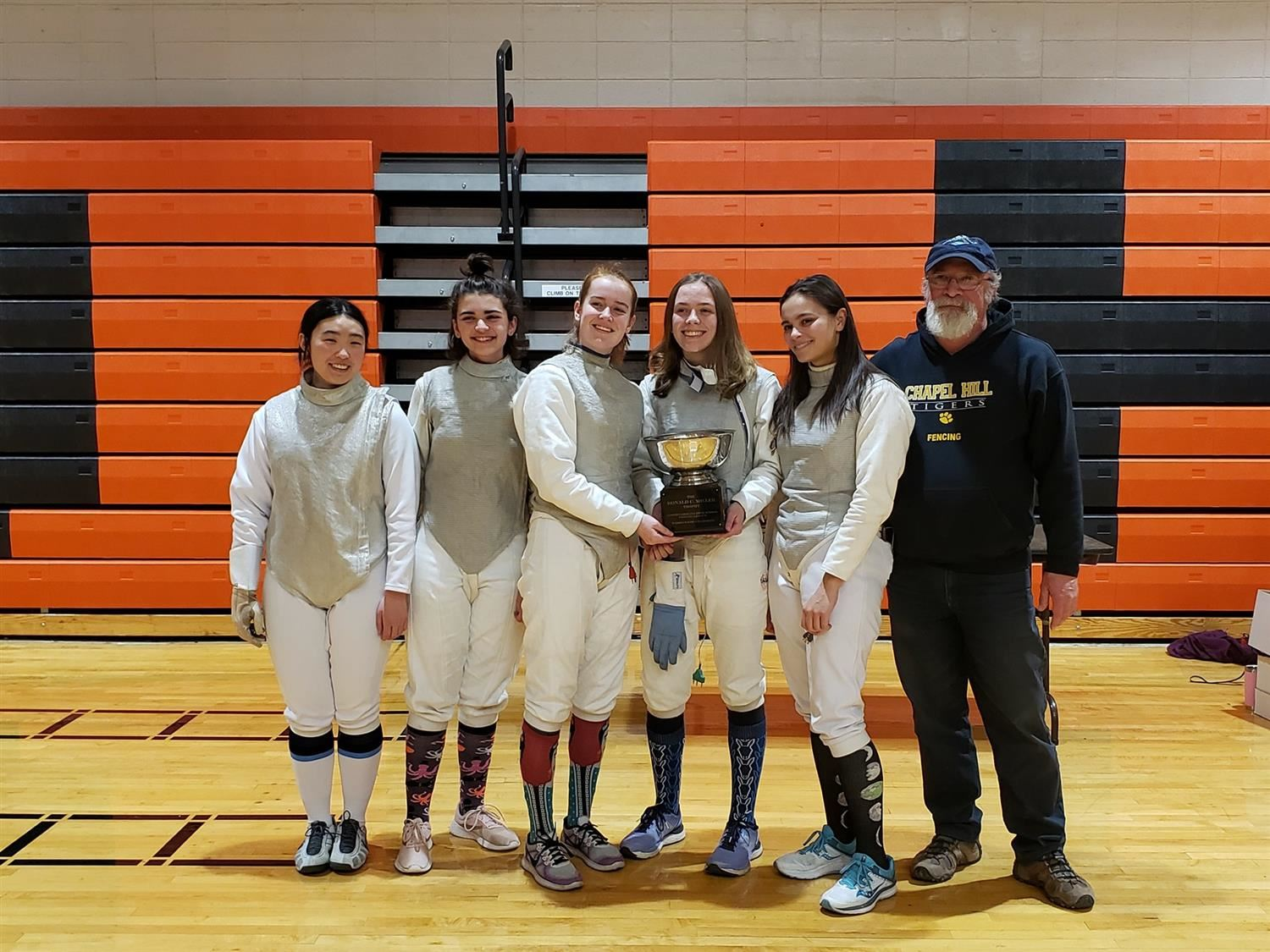 CHHS women's fencing team