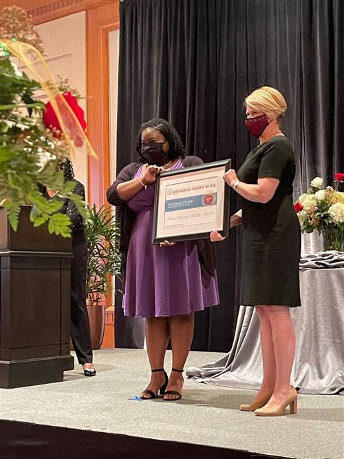 Eugenia Floyd Named NC Teacher of the Year