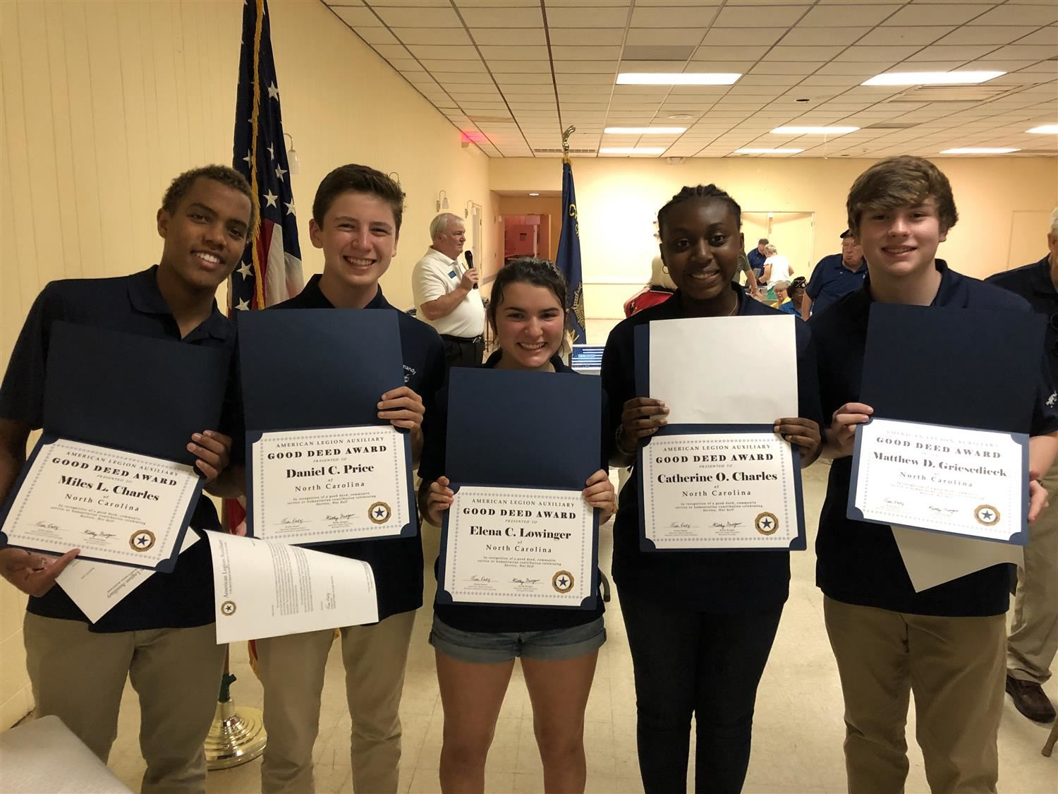 NC to Normandy students at American Legion