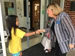 Mayor greets GES student