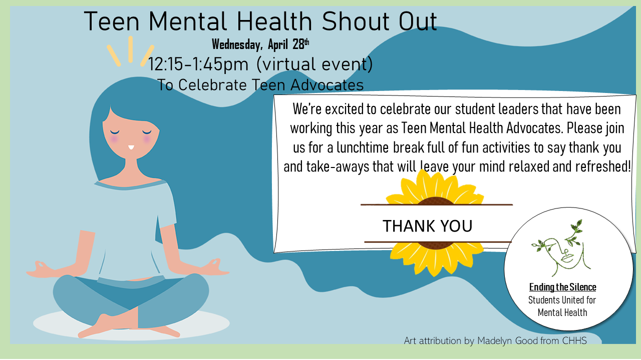 Teen Mental Health Shout Out