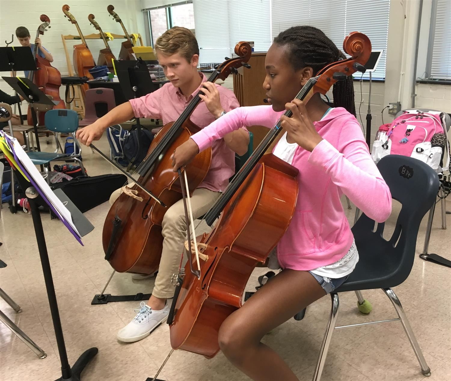 PMS orchestra students